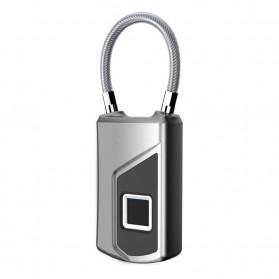 Gembok Koper Serbaguna Smart Fingerprint Padlock - G3 - Gray - 6