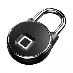 Gembok Koper Rumah Smart Fingerprint Padlock - P22 - Black - 1