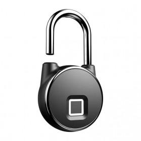 Gembok Koper Rumah Smart Fingerprint Padlock - P22 - Black - 3