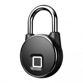 Gembok Koper Rumah Smart Fingerprint Padlock - P22 - Black - 4