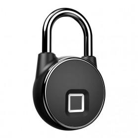 Gembok Koper Rumah Smart Fingerprint Padlock - P22 - Black - 5
