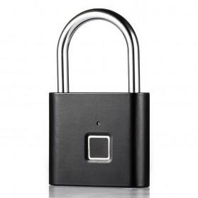 BACO Gembok Koper Rumah Smart Fingerprint Padlock - P9 - Black