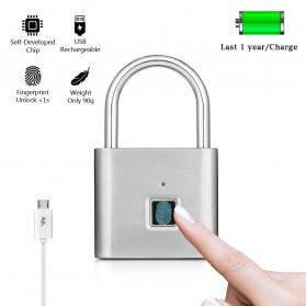 BACO Gembok Koper Rumah Smart Fingerprint Padlock - P9 - Black - 3