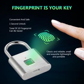 BACO Gembok Koper Rumah Smart Fingerprint Padlock - P9 - Black - 4