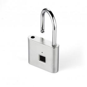 BACO Gembok Koper Rumah Smart Fingerprint Padlock - P9 - Black - 5
