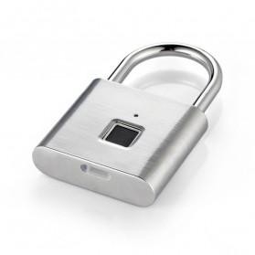 BACO Gembok Koper Rumah Smart Fingerprint Padlock - P9 - Black - 8