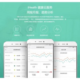 Xiaomi iHealth 2 Sphygmomanometer Pengukur Tekanan Darah Digital Blood Pressure BPM1 - White - 6