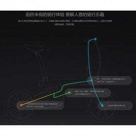 Xiaomi QiCycle Sepeda Elektrik Lipat Smart Bicycle (Tanpa Baterai) - Black - 7