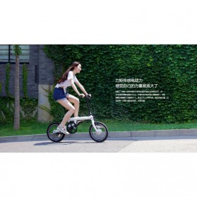 Xiaomi QiCycle Sepeda Elektrik Lipat Smart Bicycle (Tanpa Baterai) - Black - 8