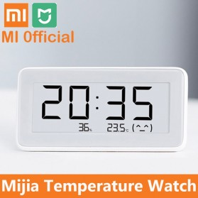 Xiaomi Mijia E-Ink Jam Meja Thermostat Thermometer Hygrometer Humidity Sensor Bluetooth - LYWSD02MMC - White