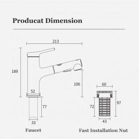 Xiaomi Dabai Keran Air Bathroom Basin Sink Kitchen Shower 2 Spray Mode - DXMP002 - Silver - 9