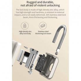 Xiaomi Mijia Youdian Gembok Koper Rumah Smart Fingerprint Padlock -YD-K1 - Golden - 11