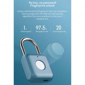 Xiaomi Mijia Youdian Gembok Koper Rumah Smart Fingerprint Padlock -YD-K1 - Golden - 2