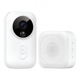 Xiaomi Bel Pintu Video Doorbell Zero AI Face Identification 720P IR Night Vision - MJMLTZ01-FJ - White
