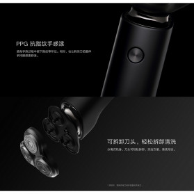 Xiaomi Mijia Electric Shaver Alat Cukur Elektrik 3 Head - S500 - Black - 10