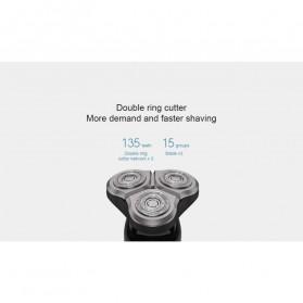 Xiaomi Mijia Electric Shaver Alat Cukur Elektrik 3 Head - S500 - Black - 6