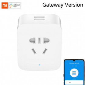 Xiaomi Mijia Smart Socket Stop Kontak Bluetooth Gateway Version with Dual USB Port - ZNCZ06CM - White