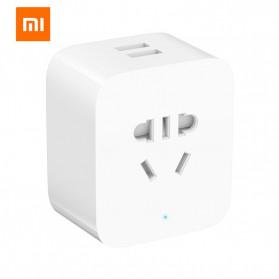 Xiaomi Mijia Smart Socket Stop Kontak Bluetooth Gateway Version with Dual USB Port - ZNCZ06CM - White - 2