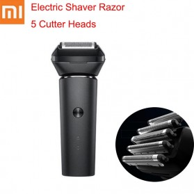 Xiaomi Mijia Electric Shaver Alat Cukur Elektrik Reciprocating 5 Razor Cutter - MSW501 - Black