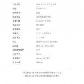 Xiaomi VIOMI Keran Air Panas Dingin Stainless Steel Lead-free Faucet - C-003YM - Silver - 9