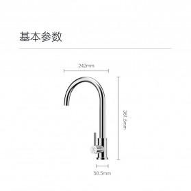 Xiaomi VIOMI Keran Air Panas Dingin Stainless Steel Lead-free Faucet - C-003YM - Silver - 8