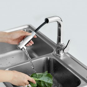 Xiaomi Dabai Keran Air Bathroom Basin Sink Kitchen With Pull Out Rinser Sprayer Faucet - DXCF005-T - Silver