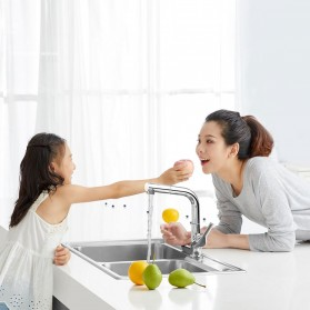Xiaomi Dabai Keran Air Bathroom Basin Sink Kitchen With Pull Out Rinser Sprayer Faucet - DXCF005-T - Silver - 3