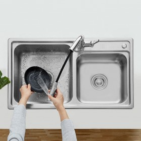 Xiaomi Dabai Keran Air Bathroom Basin Sink Kitchen With Pull Out Rinser Sprayer Faucet - DXCF005-T - Silver - 4