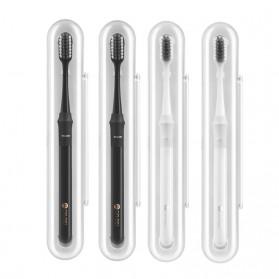 Xiaomi DR.BEI Doctor B Sikat Gigi Toothbrush with Travel Box 4 PCS - White - 4
