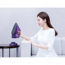 Xiaomi Mijia Lofans Cordless Steam Iron Setrika Uap 2000W - YD-012V - Purple - 12