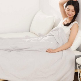 Xiaomi Mijia 8H Selimut Bed Cover Anti Bakteri Breathable Bedding Quilt 180x200cm- L1 - Gray - 1