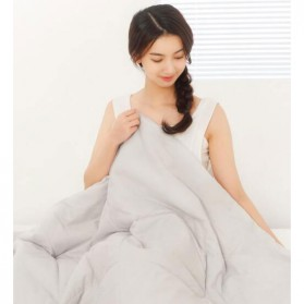 Xiaomi Mijia 8H Selimut Bed Cover Anti Bakteri Breathable Bedding Quilt 180x200cm- L1 - Gray - 2