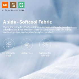 Xiaomi Mijia 8H Selimut Bed Cover Anti Bakteri Breathable Bedding Quilt 180x200cm- L1 - Gray - 7