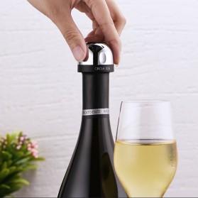 Xiaomi Mijia Circle Joy Wine Vacuum Stopper Tutup Botol Wine Stainless Steel - CJ-JS02 - Black - 4