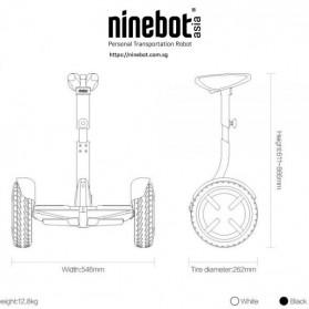Ninebot Segway Mini Pro Balance Car Self Balancing Scooter - N3M300 - White - 10