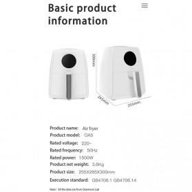 Xiaomi Onemoon Air Fryer Mesin Penggoreng Udara Tanpa Minyak 3.5L - OA5 - White - 8