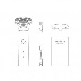 ShowSee Alat Cukur Elektrik Electric Shaver 3 Head Rechargeable - F1-BK - Black - 8