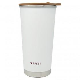 Efest Botol Minum Thermos 400ml - Brown/White