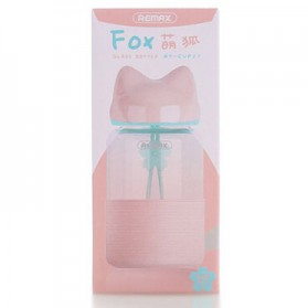 Remax Botol Minum Kaca Bentuk Rubah 340ml - RT-CUP27 - Pink - 4