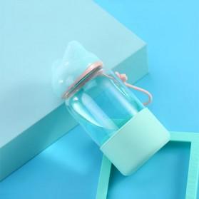 Remax Botol Minum Kaca Bentuk Rubah 340ml - RT-CUP27 - Green - 2