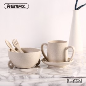 Remax Set Cangkir Mangkok Makan Bayi - RT-WH01 - Cream