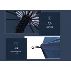 Remax Payung Hujan Tahan Angin - RT-U12 - Dark Blue - 4