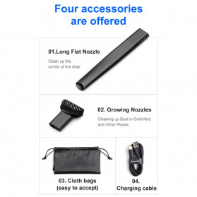 Baseus Vacuum Cleaner Portable Penyedot Debu Mobil Rechargeable CRXCQ01-01 - Black - 8