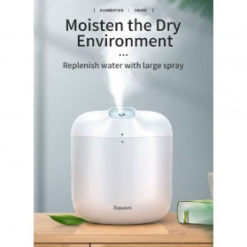 Baseus Elephant 2 in 1 Humidifier Aromatherapy Oil Diffuser 600ml with LED Lamp - DHXX-02 - White - 10