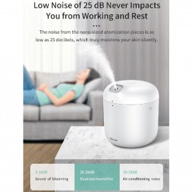 Baseus Elephant 2 in 1 Humidifier Aromatherapy Oil Diffuser 600ml with LED Lamp - DHXX-02 - White - 6
