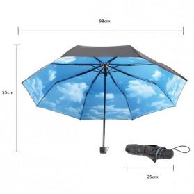 Hoco Payung Lipat Corak Langit Cerah - Black Blue - 2