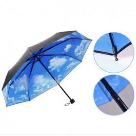 Hoco Payung Lipat Corak Langit Cerah - Black Blue - 4