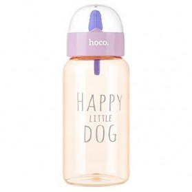 HOCO CP6 Botol Minum Happy Little Dog 450ml - Pink