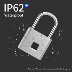TELESIN Gembok Koper Rumah Smart Fingerprint Padlock - WY-FPL-001 - Black - 4