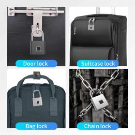 TELESIN Gembok Koper Rumah Smart Fingerprint Padlock - WY-FPL-001 - Black - 6